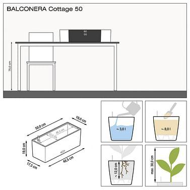 Балконный ящик Балконера Лечуза 50см
