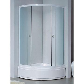 Душевая кабина 112/2 Avanta 90*90 рифлёное стекло / серое стекло