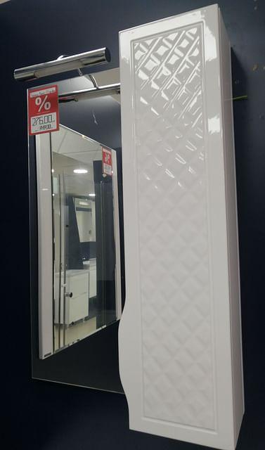 Зеркало со шкафом Родорс 55 (правый) с подсветкой