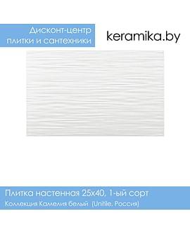 Плитка Unitile Камелия белый 25х40