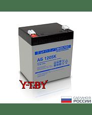 Аккумулятор 12В, 5Ач (АБ 1205К) срок службы 5 лет (Тип К) Болид